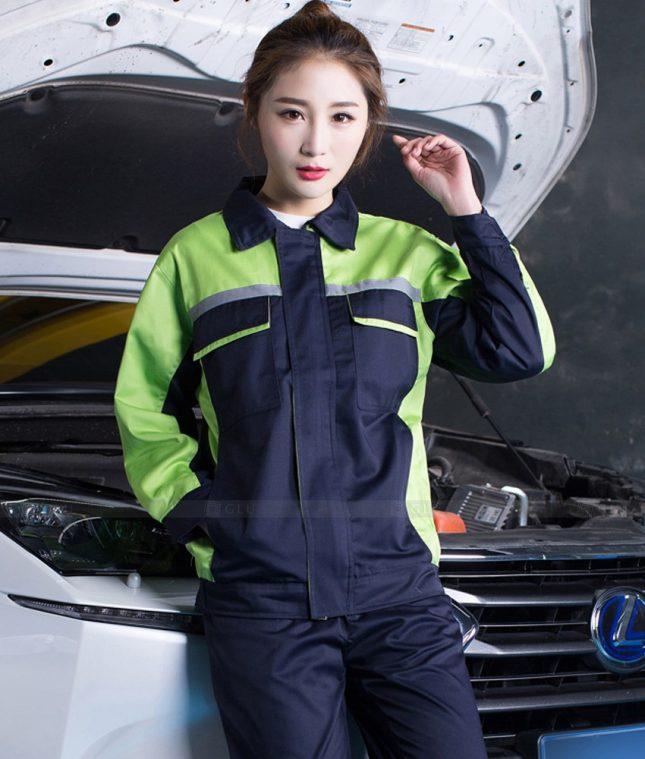 Dong phuc cong nhan GLU CN1402 mẫu áo công nhân