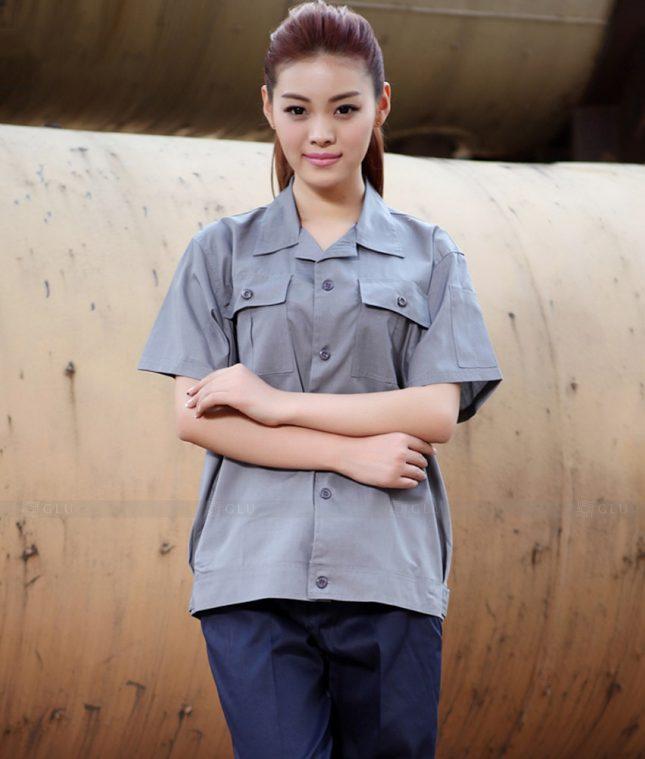 Dong phuc cong nhan GLU CN1403 mẫu áo công nhân