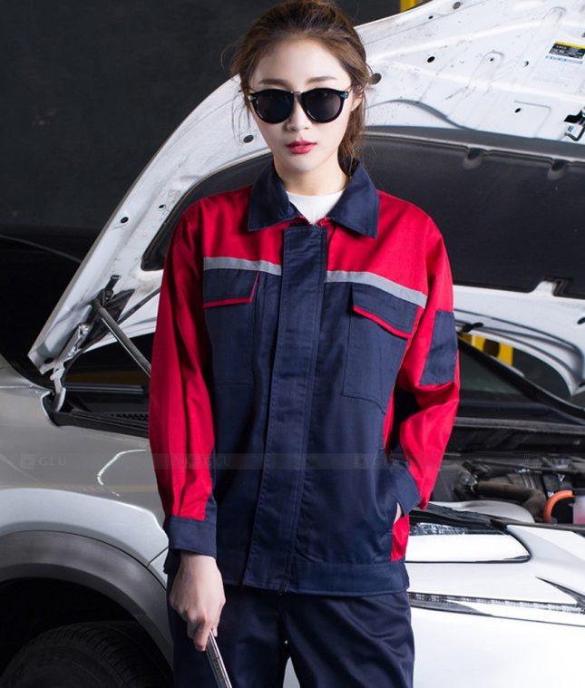 Dong phuc cong nhan GLU CN1405 mẫu áo công nhân