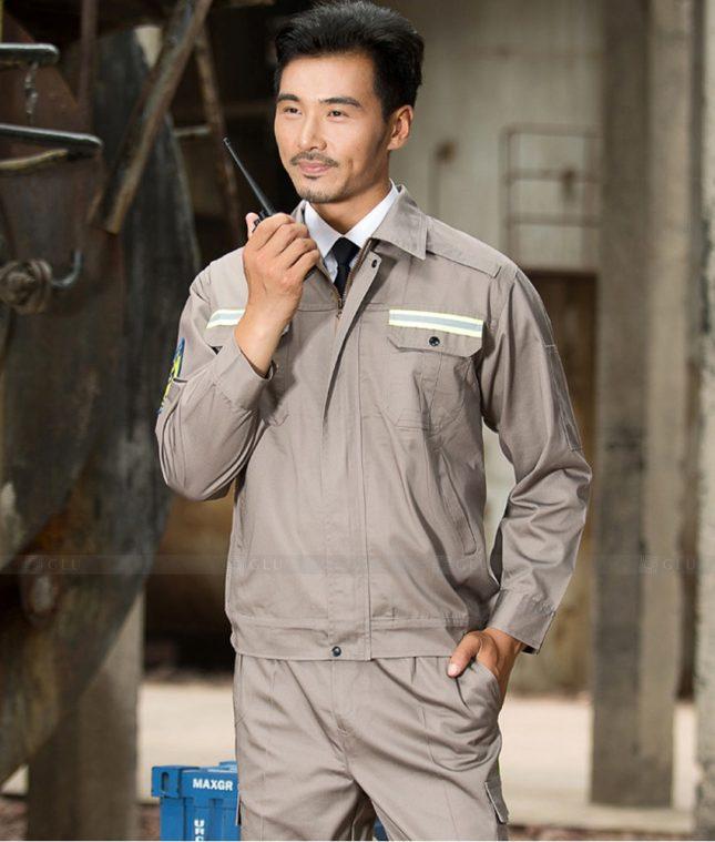 Dong phuc cong nhan GLU CN1406 mẫu áo công nhân