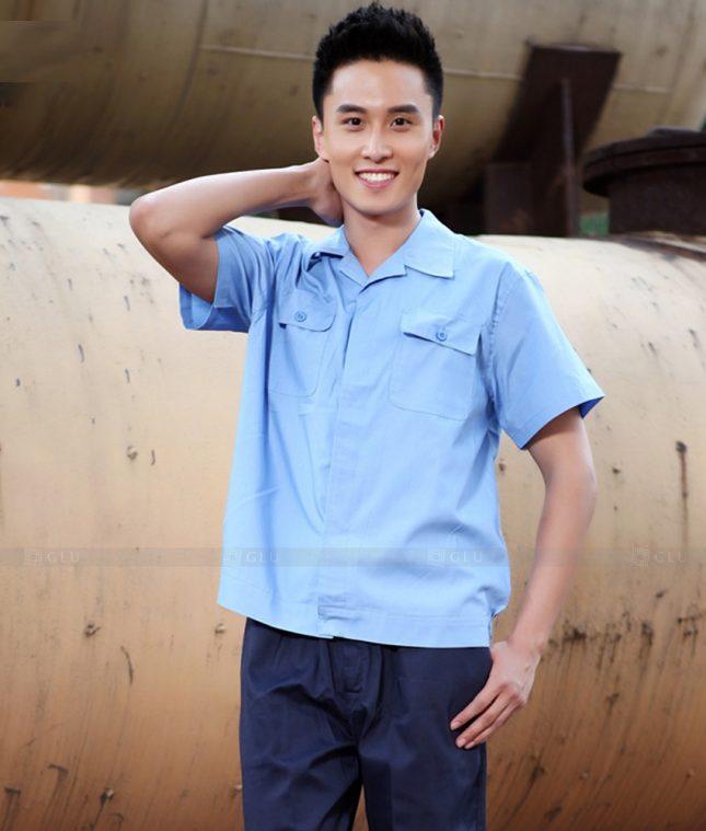 Dong phuc cong nhan GLU CN1407 mẫu áo công nhân