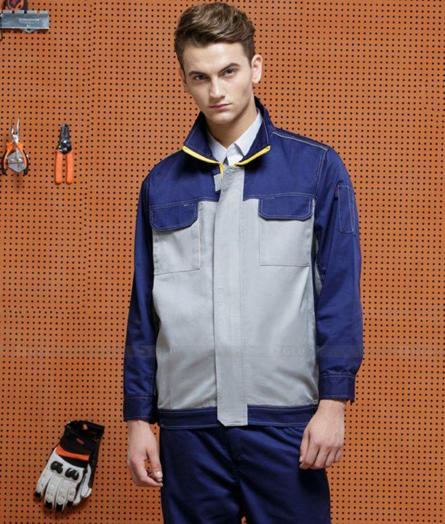 Dong phuc cong nhan GLU CN1408 mẫu áo công nhân