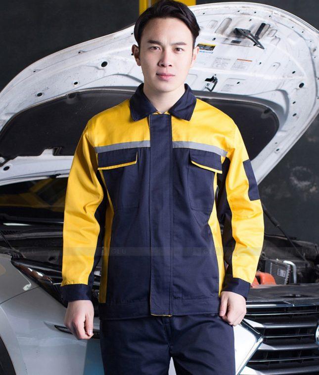 Dong phuc cong nhan GLU CN1410 mẫu áo công nhân