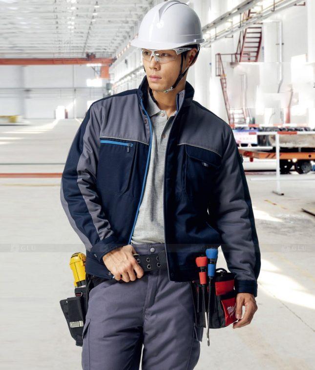 Dong phuc cong nhan GLU CN1411 mẫu áo công nhân