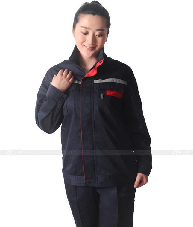 Dong phuc cong nhan GLU CN302 mẫu áo công nhân