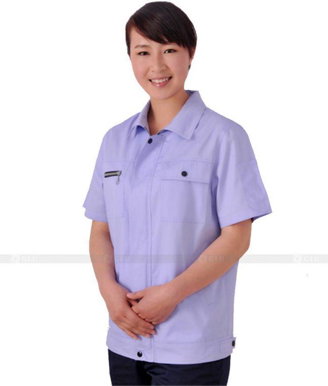 Dong phuc cong nhan GLU CN304 mẫu áo công nhân