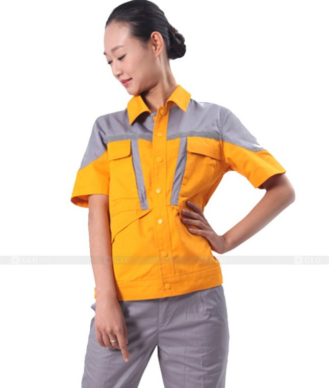 Dong phuc cong nhan GLU CN305 mẫu áo công nhân
