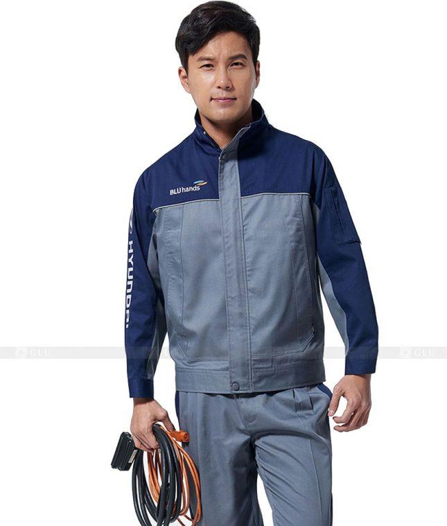 Dong phuc cong nhan GLU CN308 mẫu áo công nhân