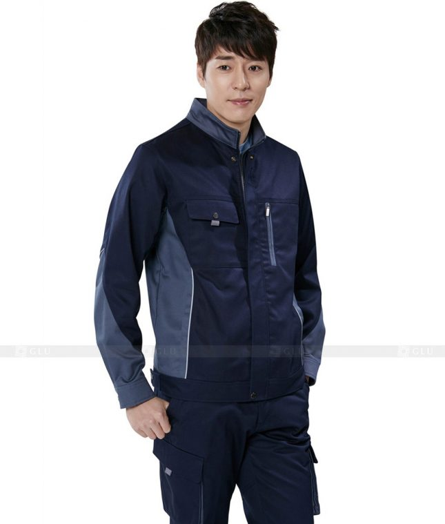 Dong phuc cong nhan GLU CN313 mẫu áo công nhân