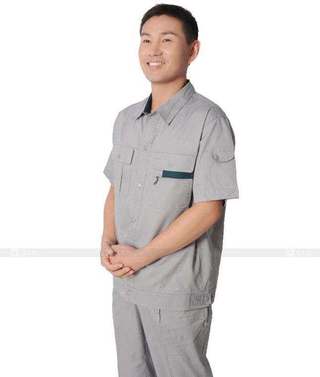 Dong phuc cong nhan GLU CN317 mẫu áo công nhân