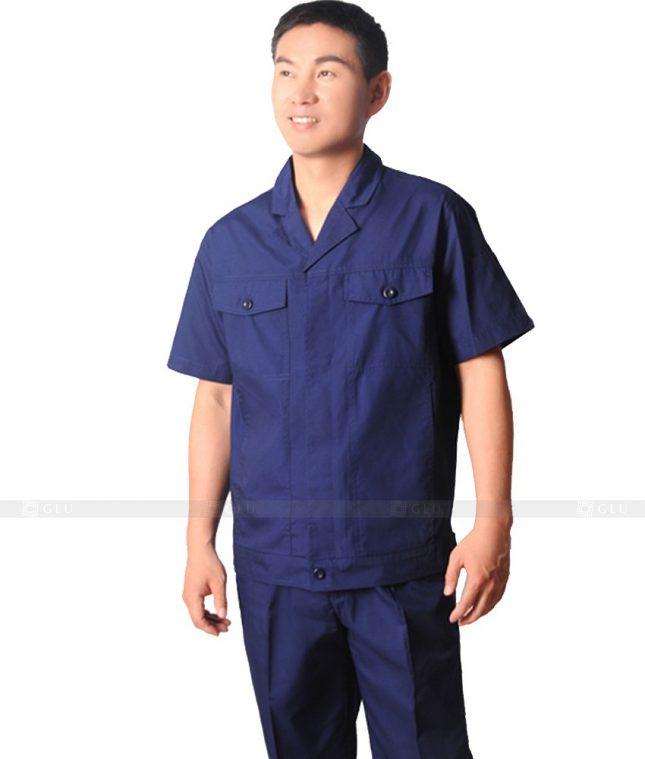 Dong phuc cong nhan GLU CN322 mẫu áo công nhân