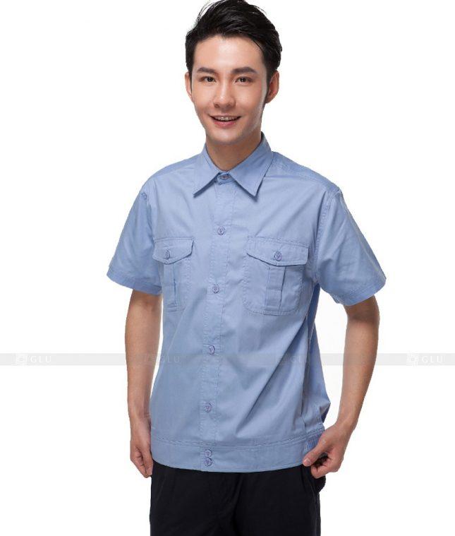 Dong phuc cong nhan GLU CN327 mẫu áo công nhân