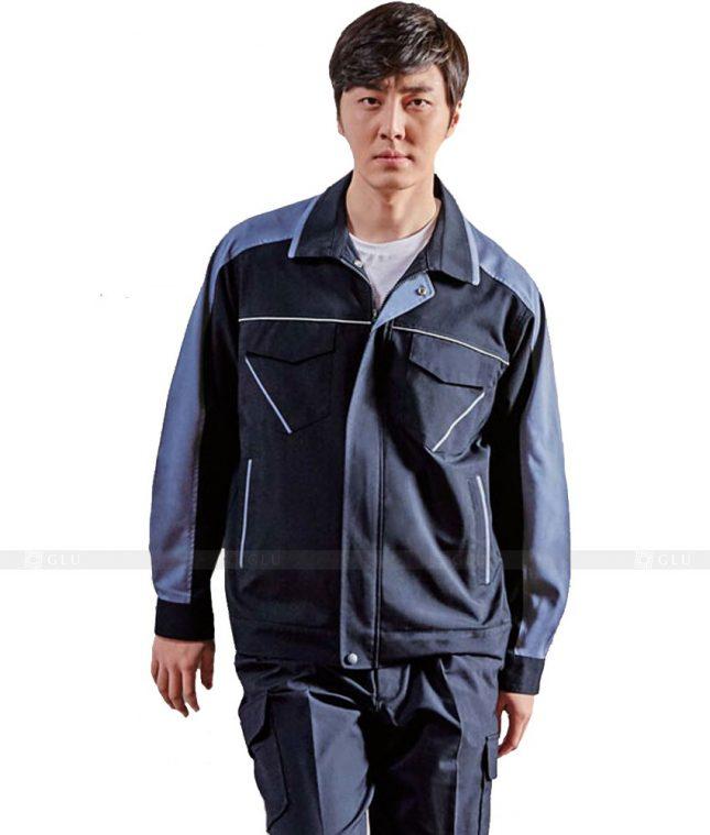 Dong phuc cong nhan GLU CN329 mẫu áo công nhân