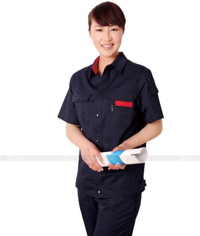 Dong phuc cong nhan GLU CN330 mẫu áo công nhân