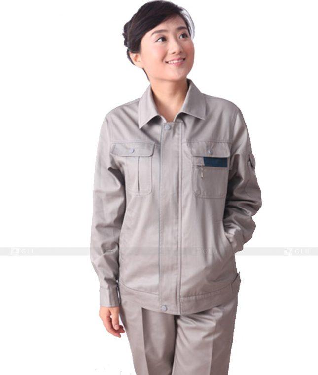 Dong phuc cong nhan GLU CN332 mẫu áo công nhân