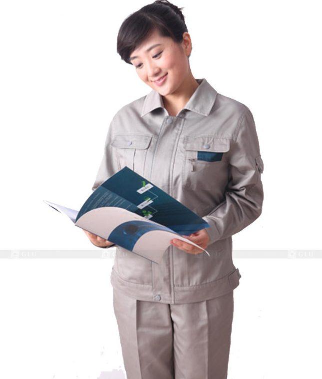 Dong phuc cong nhan GLU CN335 mẫu áo công nhân