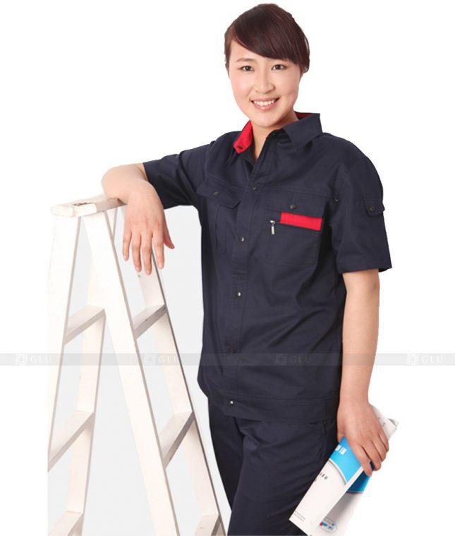 Dong phuc cong nhan GLU CN336 mẫu áo công nhân