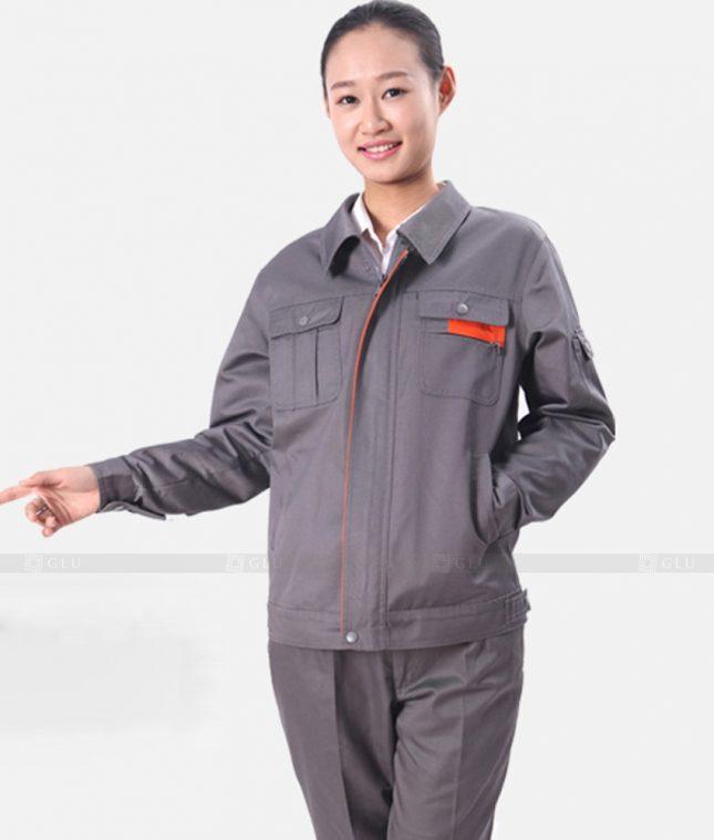 Dong phuc cong nhan GLU CN337 mẫu áo công nhân