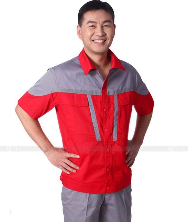 Dong phuc cong nhan GLU CN370 mẫu áo công nhân