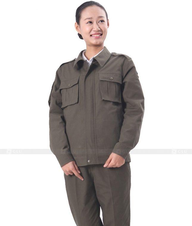 Dong phuc cong nhan GLU CN372 mẫu áo công nhân