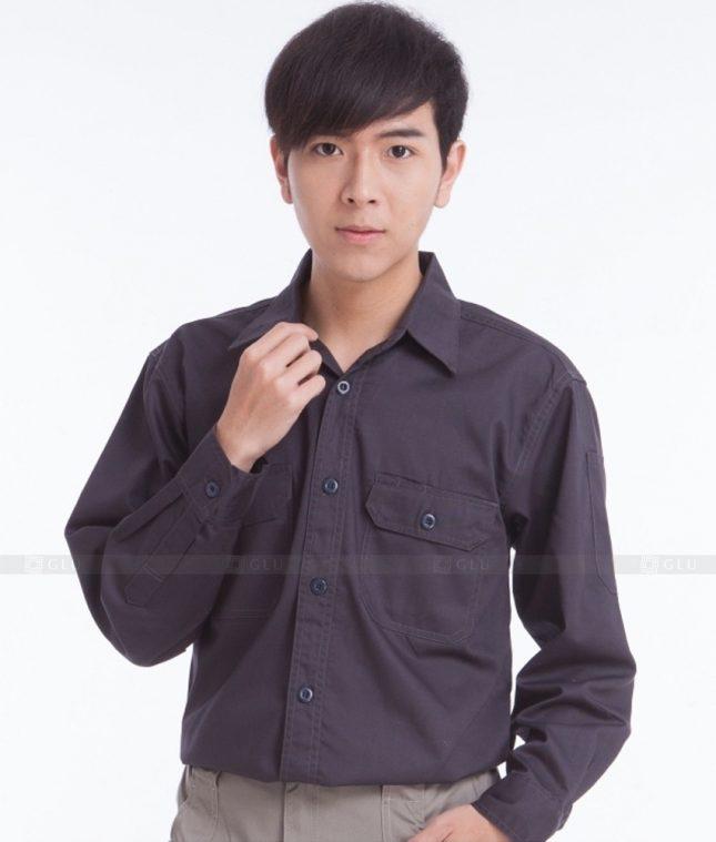 Dong phuc cong nhan GLU CN374 mẫu áo công nhân