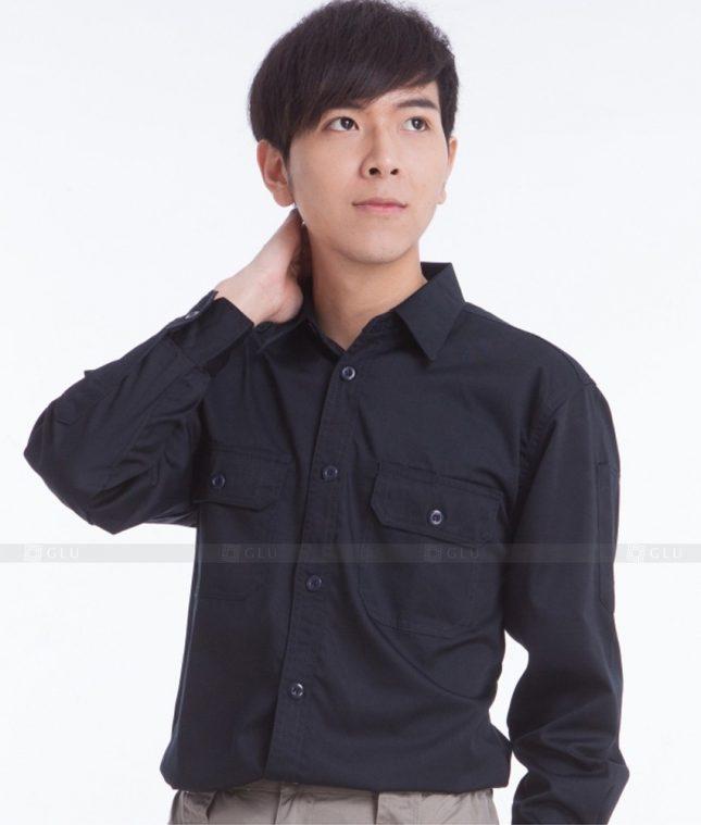 Dong phuc cong nhan GLU CN375 mẫu áo công nhân