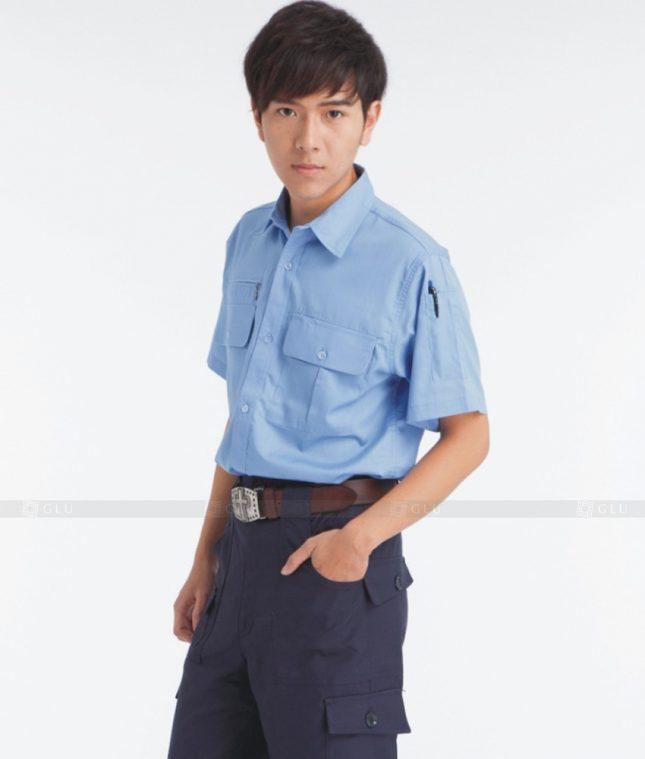 Dong phuc cong nhan GLU CN378 mẫu áo công nhân
