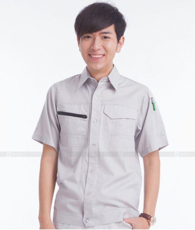Dong phuc cong nhan GLU CN380 mẫu áo công nhân