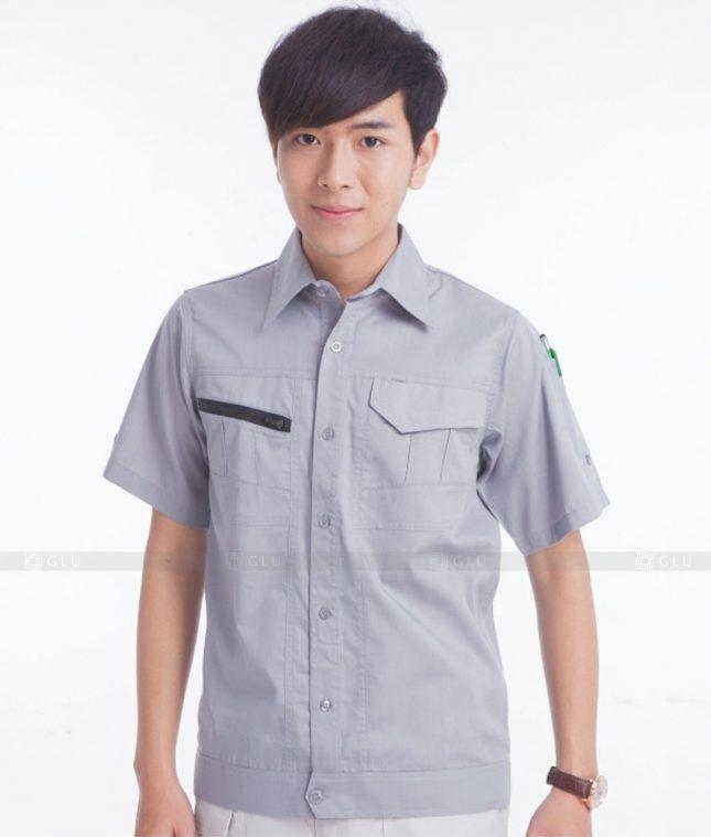 Dong phuc cong nhan GLU CN381 mẫu áo công nhân