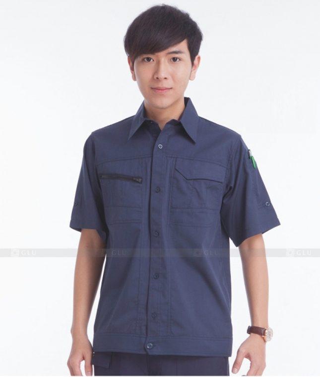 Dong phuc cong nhan GLU CN382 mẫu áo công nhân