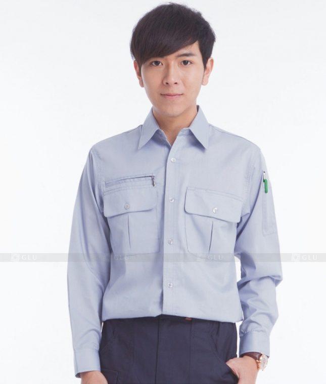 Dong phuc cong nhan GLU CN383 mẫu áo công nhân