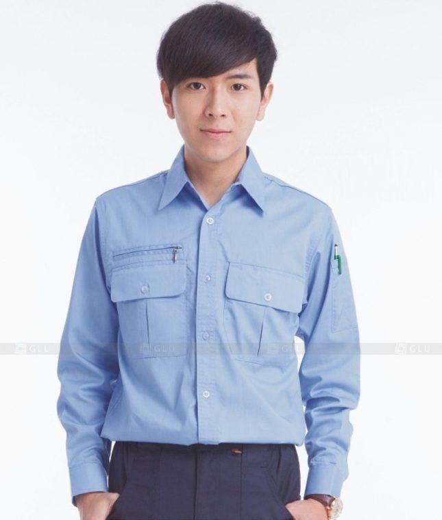 Dong phuc cong nhan GLU CN384 mẫu áo công nhân