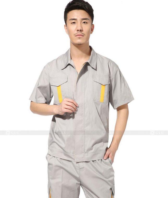 Dong phuc cong nhan GLU CN385 mẫu áo công nhân