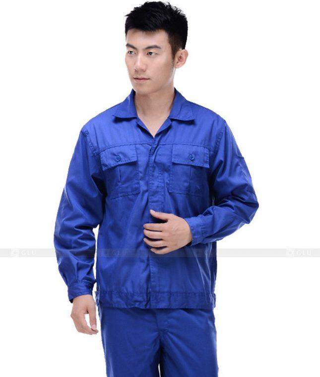 Dong phuc cong nhan GLU CN386 mẫu áo công nhân