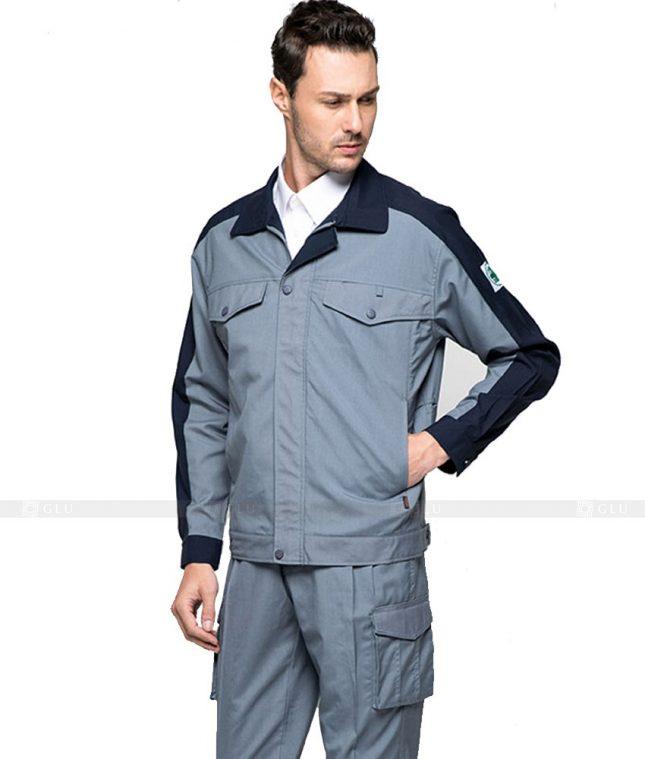 Dong phuc cong nhan GLU CN392 mẫu áo công nhân
