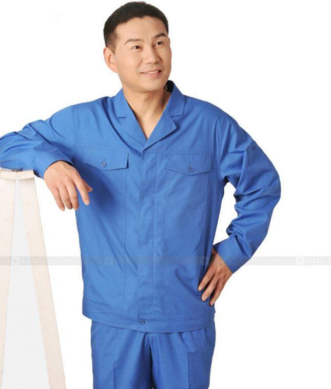 Dong phuc cong nhan GLU CN393 mẫu áo công nhân