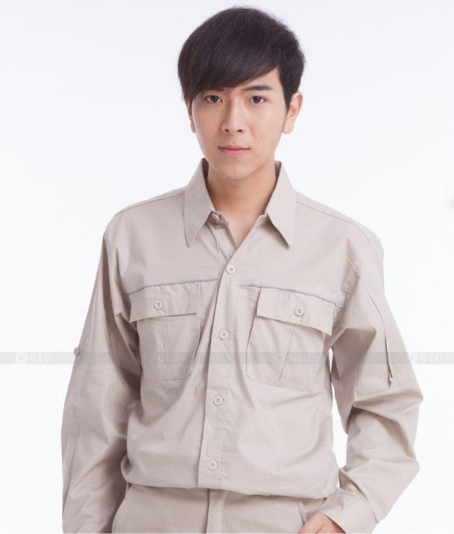 Dong phuc cong nhan GLU CN394 mẫu áo công nhân