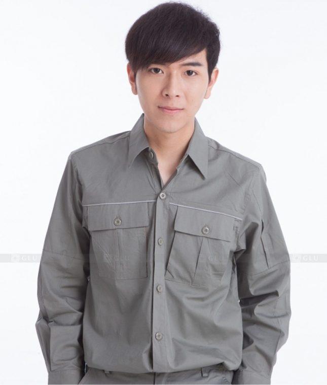 Dong phuc cong nhan GLU CN395 mẫu áo công nhân