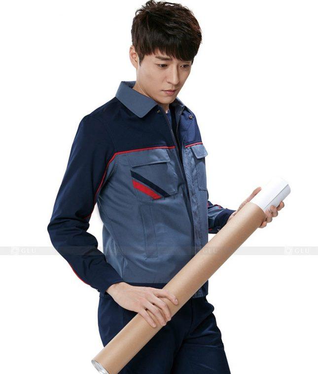 Dong phuc cong nhan GLU CN398 mẫu áo công nhân