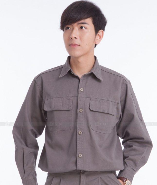 Dong phuc cong nhan GLU CN400 mẫu áo công nhân