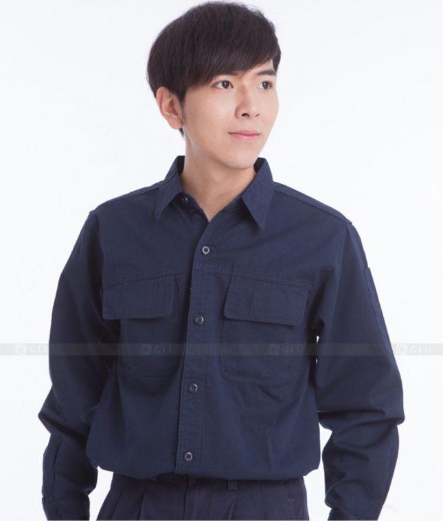 Dong phuc cong nhan GLU CN401 mẫu áo công nhân