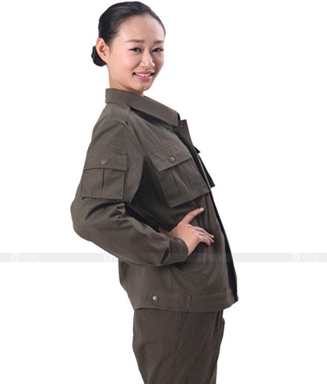 Dong phuc cong nhan GLU CN407 mẫu áo công nhân