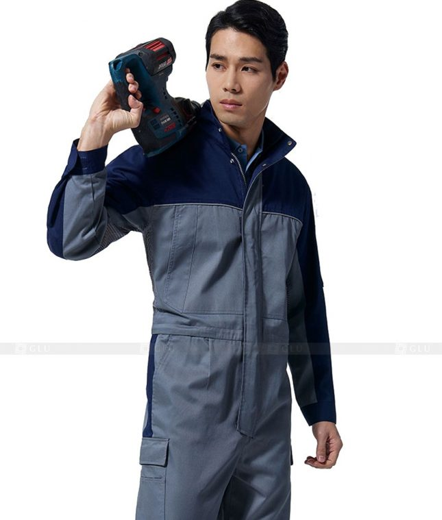 Dong phuc cong nhan GLU CN410 mẫu áo công nhân