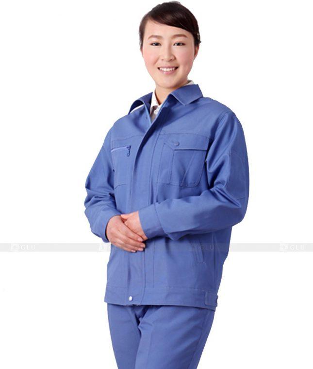 Dong phuc cong nhan GLU CN412 mẫu áo công nhân