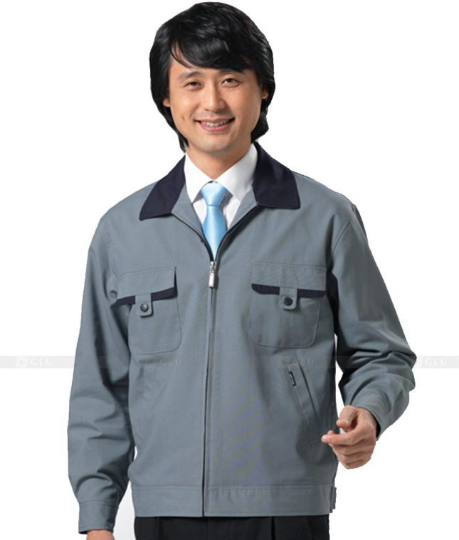 Dong phuc cong nhan GLU CN417 mẫu áo công nhân