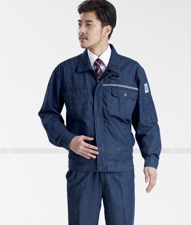 Dong phuc cong nhan GLU CN425 mẫu áo công nhân