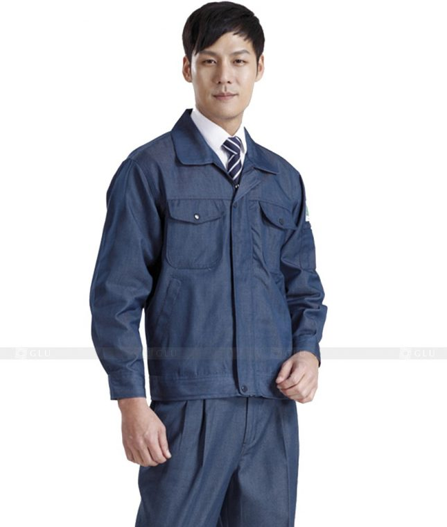 Dong phuc cong nhan GLU CN428 mẫu áo công nhân
