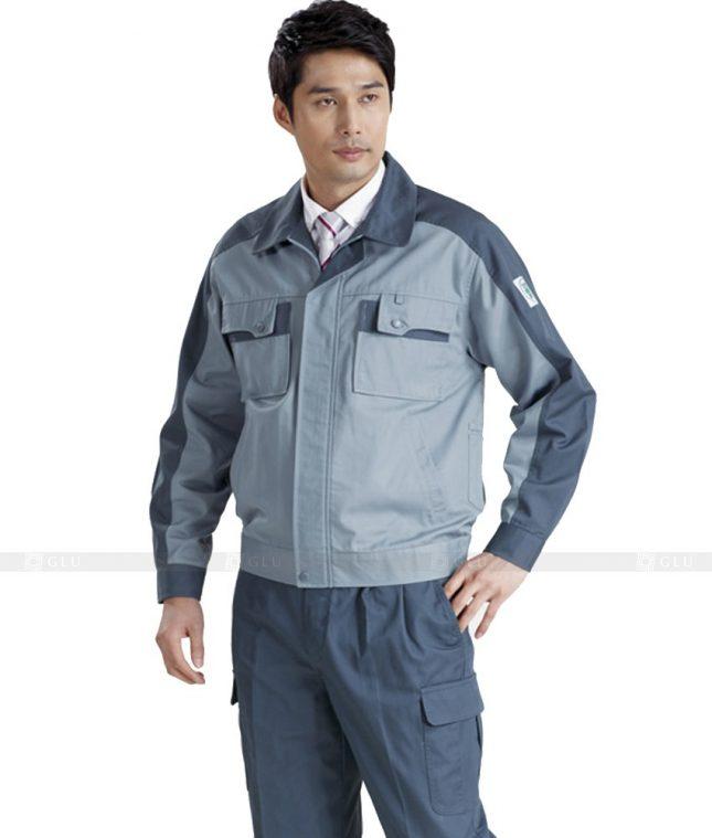 Dong phuc cong nhan GLU CN430 mẫu áo công nhân