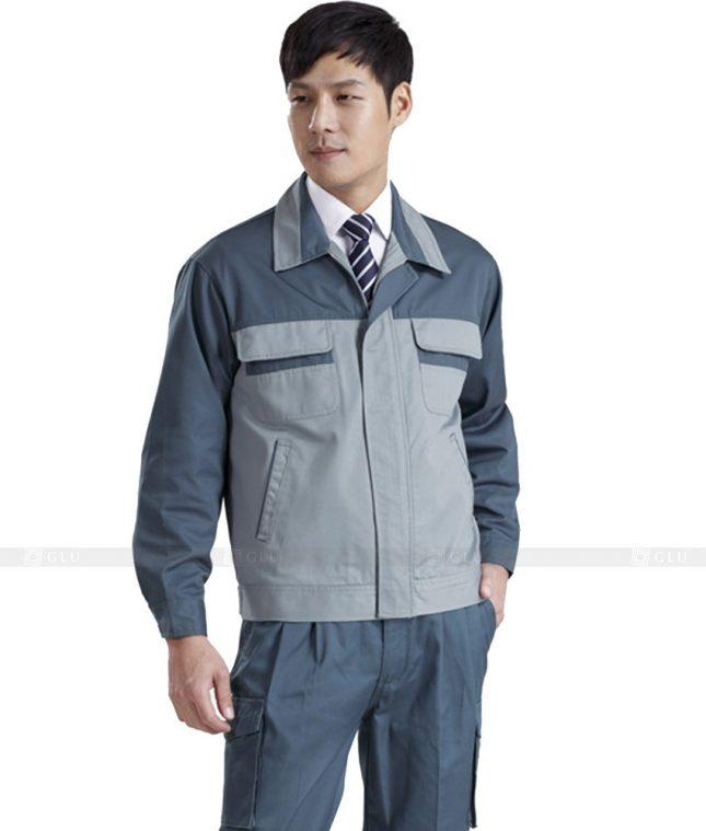 Dong phuc cong nhan GLU CN431 mẫu áo công nhân