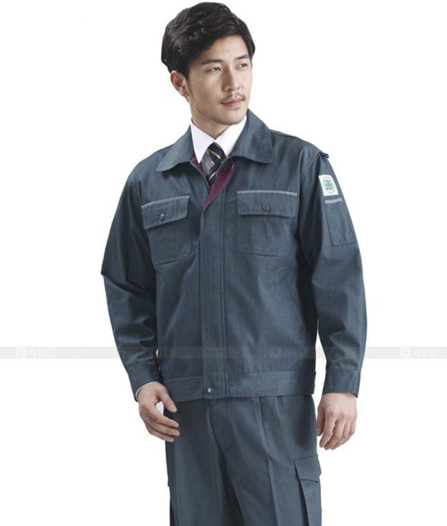 Dong phuc cong nhan GLU CN432 mẫu áo công nhân